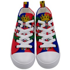 Flag Of Paris  Kids  Mid-top Canvas Sneakers