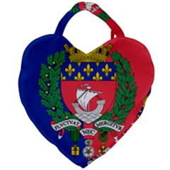 Flag of Paris  Giant Heart Shaped Tote