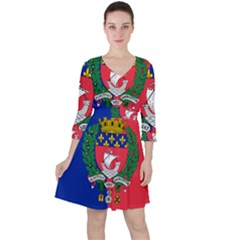 Flag Of Paris  Ruffle Dress