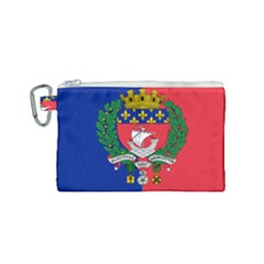 Flag of Paris  Canvas Cosmetic Bag (Small)