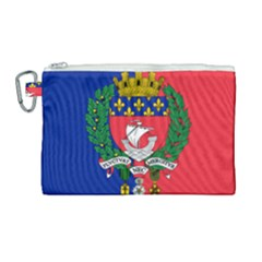 Flag of Paris  Canvas Cosmetic Bag (Large)