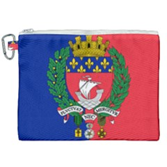 Flag of Paris  Canvas Cosmetic Bag (XXL)