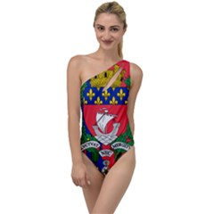 Flag Of Paris  To One Side Swimsuit