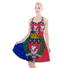 Flag of Paris  Halter Party Swing Dress