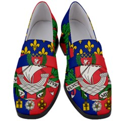Flag of Paris  Women s Chunky Heel Loafers