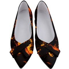 Can Walk On Fire, Black Background Women s Bow Heels