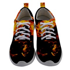 Can Walk On Fire, Black Background Women Athletic Shoes
