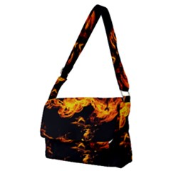 Can Walk On Fire, Black Background Full Print Messenger Bag (m) by picsaspassion