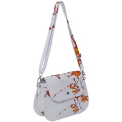 Can Walk On Fire, White Background Saddle Handbag by picsaspassion