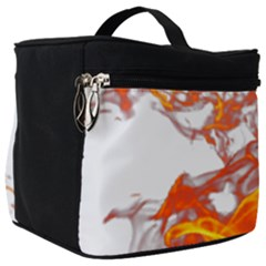 Can Walk On Volcano Fire, White Background Make Up Travel Bag (big) by picsaspassion