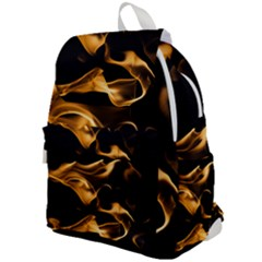 Can Walk On Volcano Fire, Black Background Top Flap Backpack by picsaspassion