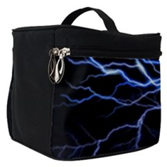 Blue Thunder Colorful Lightning Graphic Impression Make Up Travel Bag (small)