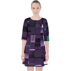 Shadyalaa Greencm s Stm Internal-h Glitch Code Dress With Pockets by HoldensGlitchCode