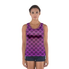 Pattern Texture Geometric Patterns Purple Sport Tank Top