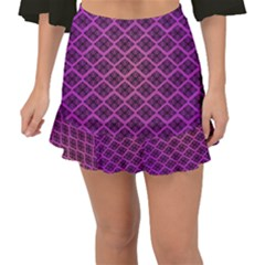Pattern Texture Geometric Patterns Purple Fishtail Mini Chiffon Skirt