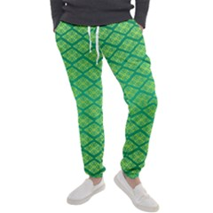 Pattern Texture Geometric Green Men s Jogger Sweatpants by Mariart