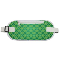 Pattern Texture Geometric Green Rounded Waist Pouch by Mariart