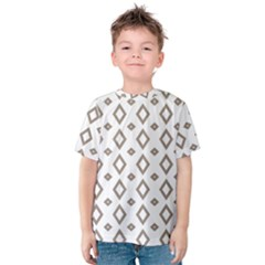 Background Texture Triangle Kids  Cotton Tee