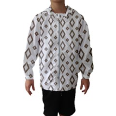 Background Texture Triangle Kids  Hooded Windbreaker