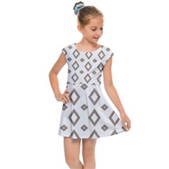 Background Texture Triangle Kids  Cap Sleeve Dress