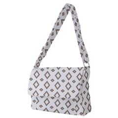 Background Texture Triangle Full Print Messenger Bag (m)