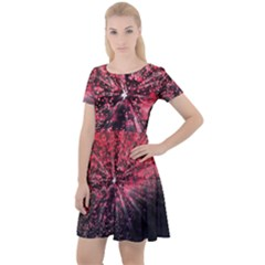 Abstract Background Wallpaper Cap Sleeve Velour Dress  by HermanTelo
