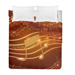 Music Notes Sound Musical Love Duvet Cover Double Side (full/ Double Size)