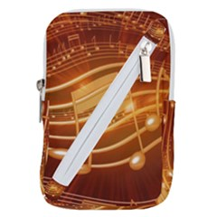 Music Notes Sound Musical Love Belt Pouch Bag (large)