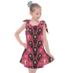 Background Abstract Pattern Kids  Tie Up Tunic Dress