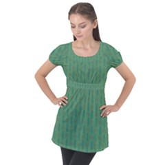 Pattern Background Blure Puff Sleeve Tunic Top by HermanTelo
