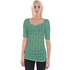 Pattern Background Blure Wide Neckline Tee