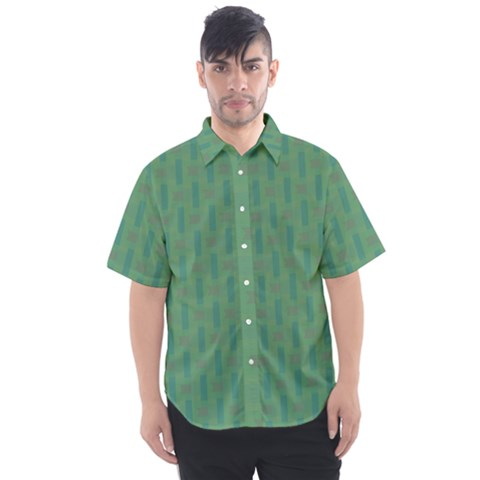 Pattern Background Blure Men s Short Sleeve Shirt by HermanTelo