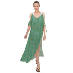 Pattern Background Blure Maxi Chiffon Cover Up Dress by HermanTelo