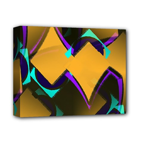Geometric Gradient Psychedelic Deluxe Canvas 14  X 11  (stretched)