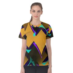 Geometric Gradient Psychedelic Women s Cotton Tee