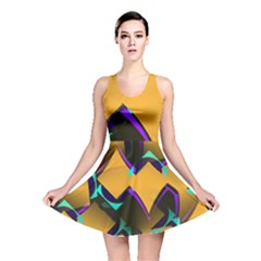 Geometric Gradient Psychedelic Reversible Skater Dress