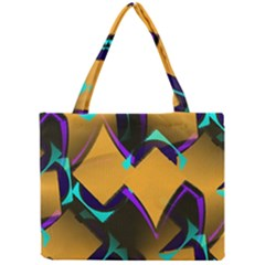 Geometric Gradient Psychedelic Mini Tote Bag