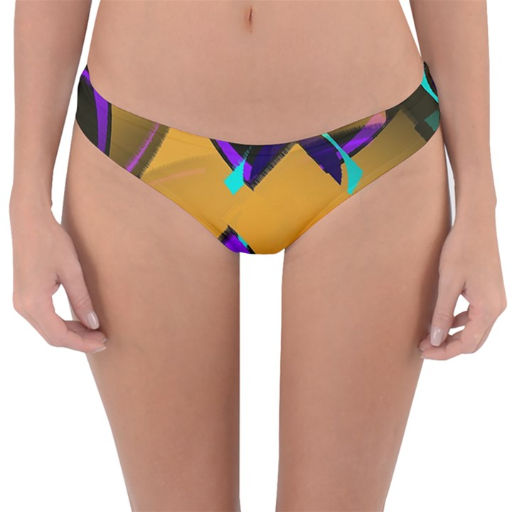 Geometric Gradient Psychedelic Reversible Hipster Bikini Bottoms