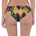 Geometric Gradient Psychedelic Reversible Hipster Bikini Bottoms View2