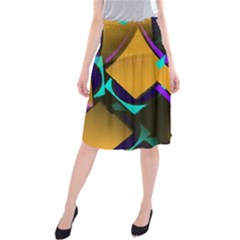 Geometric Gradient Psychedelic Midi Beach Skirt