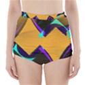 Geometric Gradient Psychedelic High-Waisted Bikini Bottoms View1