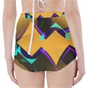 Geometric Gradient Psychedelic High-Waisted Bikini Bottoms View2