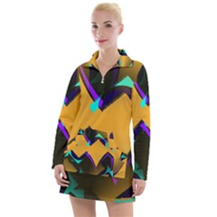 Geometric Gradient Psychedelic Women s Long Sleeve Casual Dress