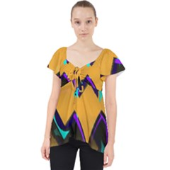 Geometric Gradient Psychedelic Lace Front Dolly Top