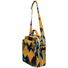 Geometric Gradient Psychedelic Crossbody Day Bag