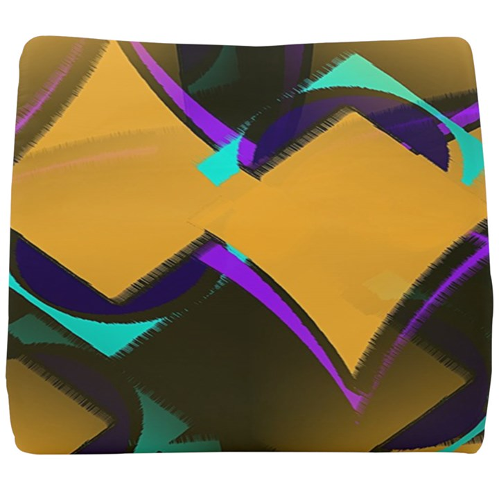 Geometric Gradient Psychedelic Seat Cushion