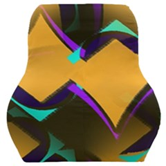 Geometric Gradient Psychedelic Car Seat Back Cushion