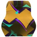 Geometric Gradient Psychedelic Car Seat Back Cushion  View1
