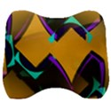 Geometric Gradient Psychedelic Velour Head Support Cushion View1