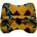 Geometric Gradient Psychedelic Velour Head Support Cushion View2